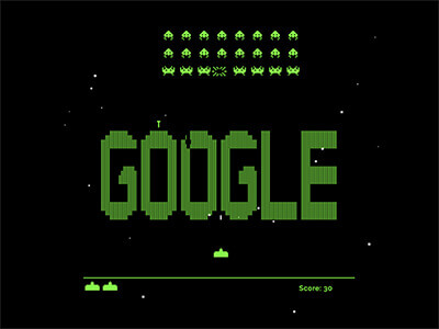 Google Space Invaders Game