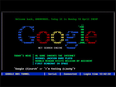 Google Terminal in 1980s