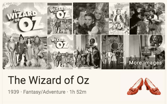 Play 'The Wizard of Oz' Google Trick